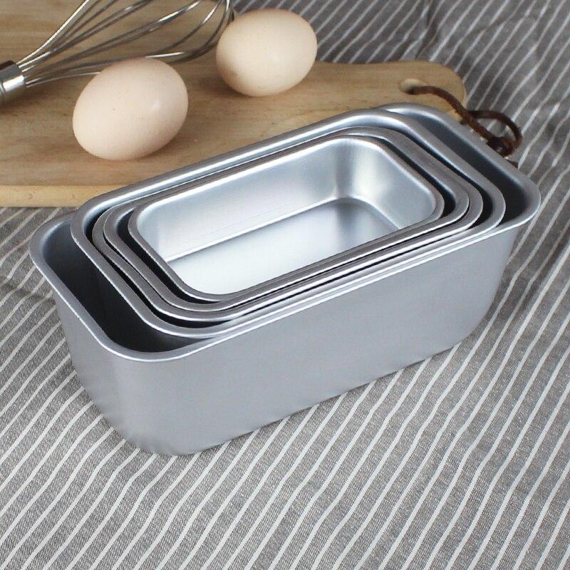 Molde de cozimento de alumínio retângulo bolo estanho assadeira padaria caso molde bolo ferramentas decoração, 5 tamanho para escolher