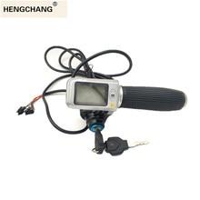 e-bike smart throttle Grip  LCD Display Digital Battery Voltage speed Power Switch 36v 48v 60v