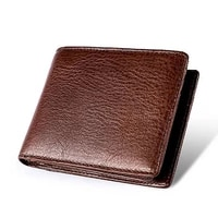 classic brown mens wallet 100 genuine leather wallet rfid blocking purse money bag business card holder high quality