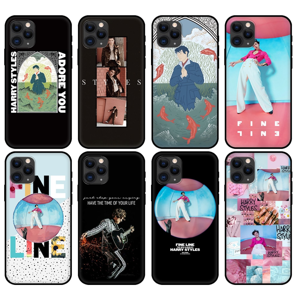 Preto tpu caso para iphone 5 5S se 6s 7 8 plus x 10 capa para iphone xr xs 11 pro max caso harry estilos 1d 2020 acessórios