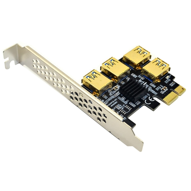 PCI-E 1 إلى 4 بطاقة محول PCI-E PCI-E إلى فتحة PCI-E ، USB3.0 بطاقة جرافيكس بطاقة التوسع ، وتستخدم ل BTC تعدين البيتكوين