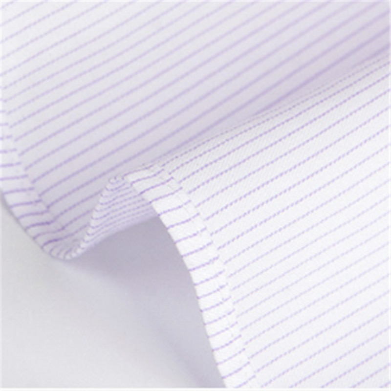 Men's Business Striped White Long Sleeve Shirt Blusas Blouse Camisa Masculina Bluzki Bluzka Koszula Cotton Social Chemise Longue