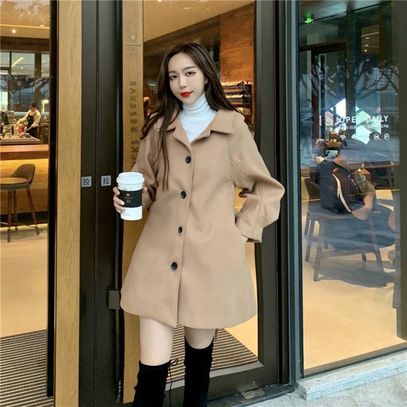 Women Winter Long A-line Coat Female Overcoat with Buttons Casual Slim Waist Plus Size Elegant Manteau Femme Hiver Abrigo Mujer