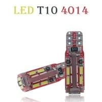 2pcs t10 w5w led canbus 19led auto bulb light part accessory load resistor bulbs light 4014 smd led t10 19smd canbus error free
