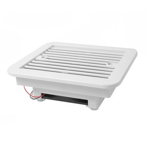 Exhaust Fan Plastic Cooling Waterproof 12V/24V Rv Trailer Caravan Side Air Vent Ventilation Blade Fan White 1 Set