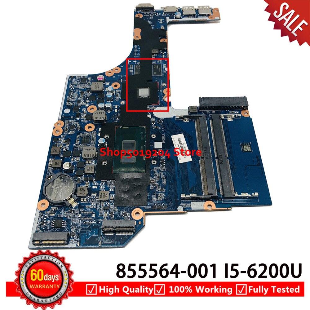 DAX63CMB6D1 For HP Probook 450 G3 450-G3 Laptop Motherboard SR2EY I5-6200U DDR4 855674-601 855564-501 855564-001 mainboar