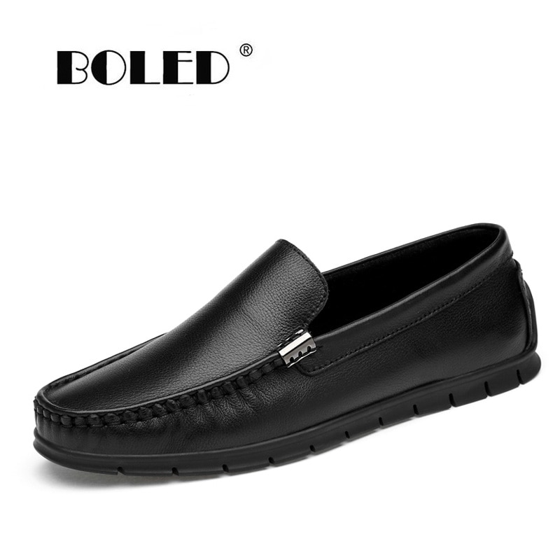 ccharmix large size 36 47 full grain leather men casual shoes handmade fashion comfortable breathable men genuine leather shoes Full Grain Leather Men Shoes Flats Comfortable Fashion Casual Shoes Men Slip On Driving Shoes Loafers Moccasins