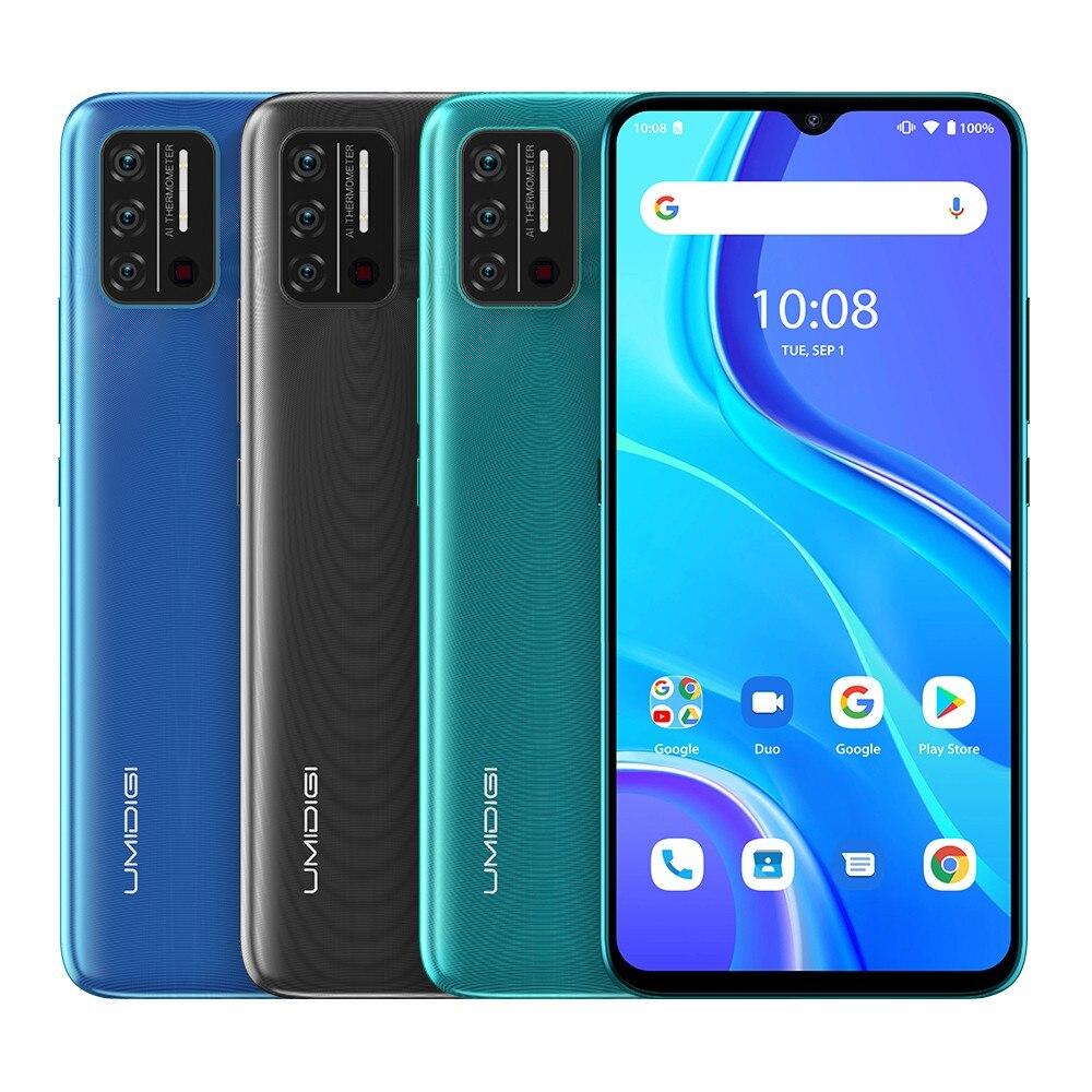 Original UMIDIGI A7S 6.53 20:9 Large Full Screen 32GB 4150mAh Triple Camera Cellphone Infrared Temperature Sensor Type C