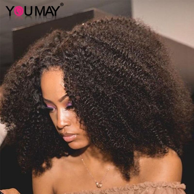 شعر مستعار أفرو غريب مجعد يو جزء 250% كثافة الشعر البشري البرازيلي عذراء الشعر U جزء الباروكات 4b 4c غريب مجعد للمرأة السوداء يمكنك