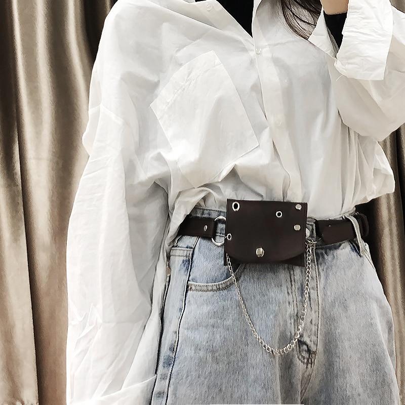 Women's Cool Ins Small Waist Bag Women's Belt Decorative Fashion All-Match Punk Belt