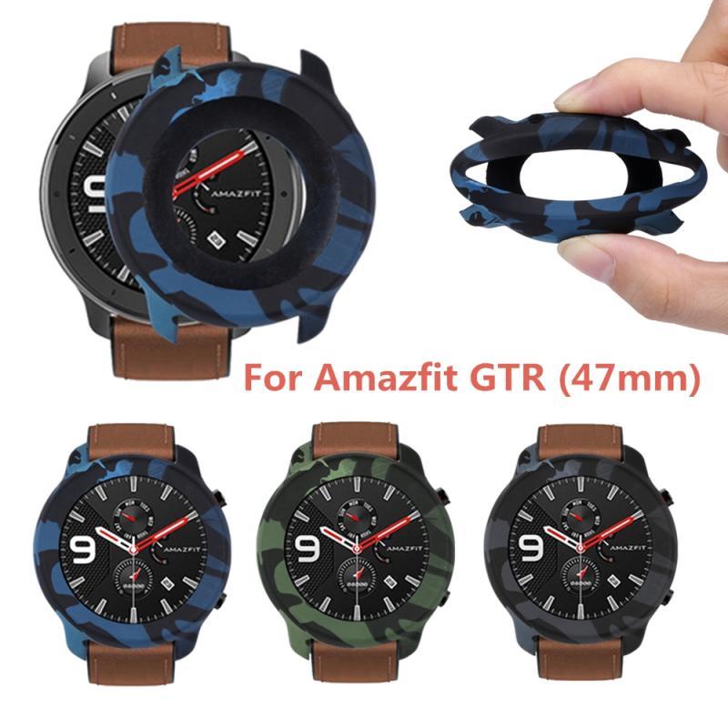 Новинка 2021, высококачественный чехол для Huami Amazfit GTR 47 мм, искусственный чехол, мягкий ТПУ чехол с полным покрытием, защитный чехол для ремешк... чехол