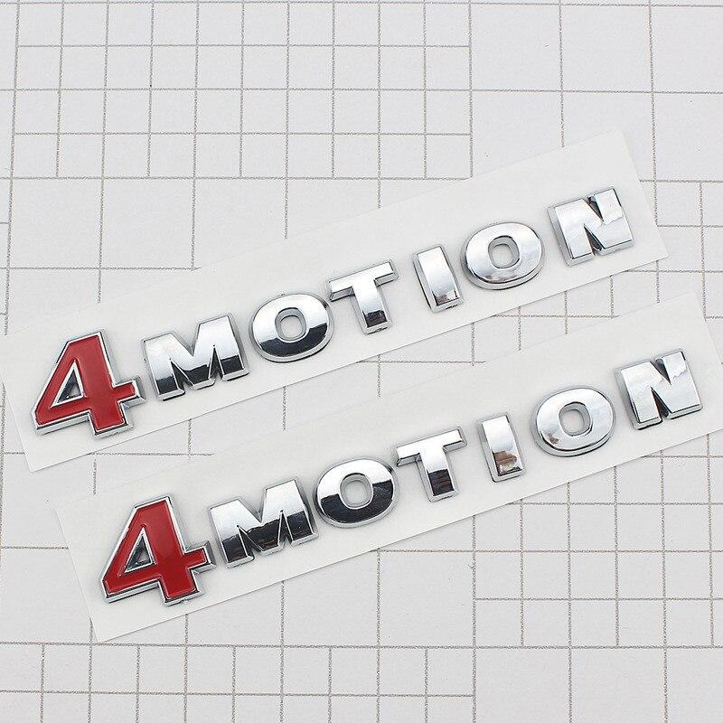 Insignia de coche de 4 emblemas de movimiento de plástico ABS de 14cm X 3,2 cm, etiqueta adhesiva lateral para el maletero del coche, 1 logo