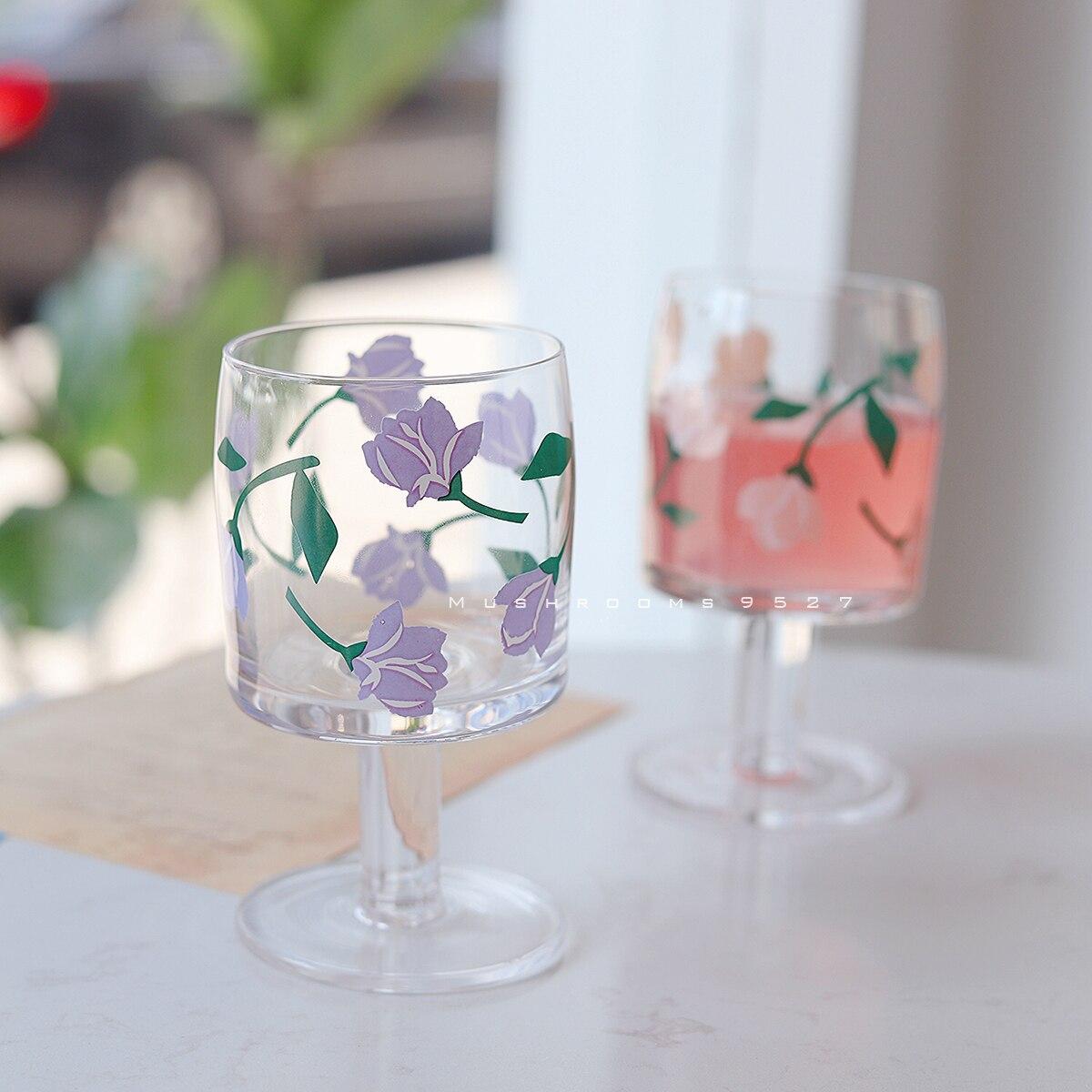 الصيف الرومانسية جديد لغة القزحية خمر فوار فتاة الزجاج القلب زجاج بوروسيليليك مرتفع كوب ماء كأس القهوة كوب حليب