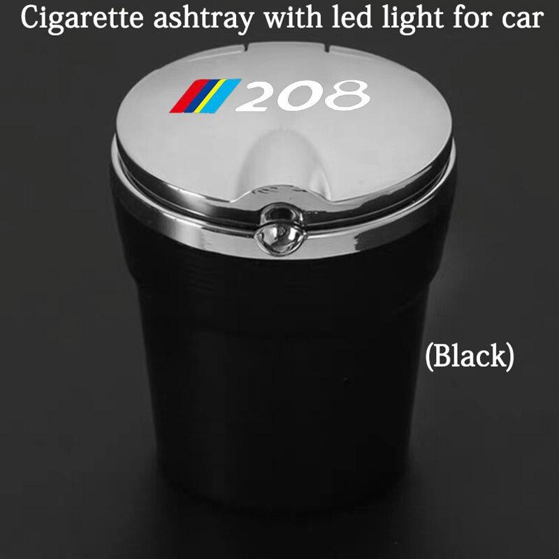 Автомобильная пепельница со светодиодной подсветкой и логотипом, креативные личные автомобильные принадлежности для Peugeot 106, автомобильны...