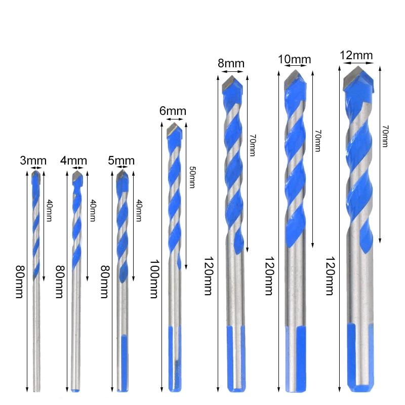 3, 4, 5, 6, 8, 10, 12 mm multifunctionele glasboor, driehoekige bits - Boor - Foto 4