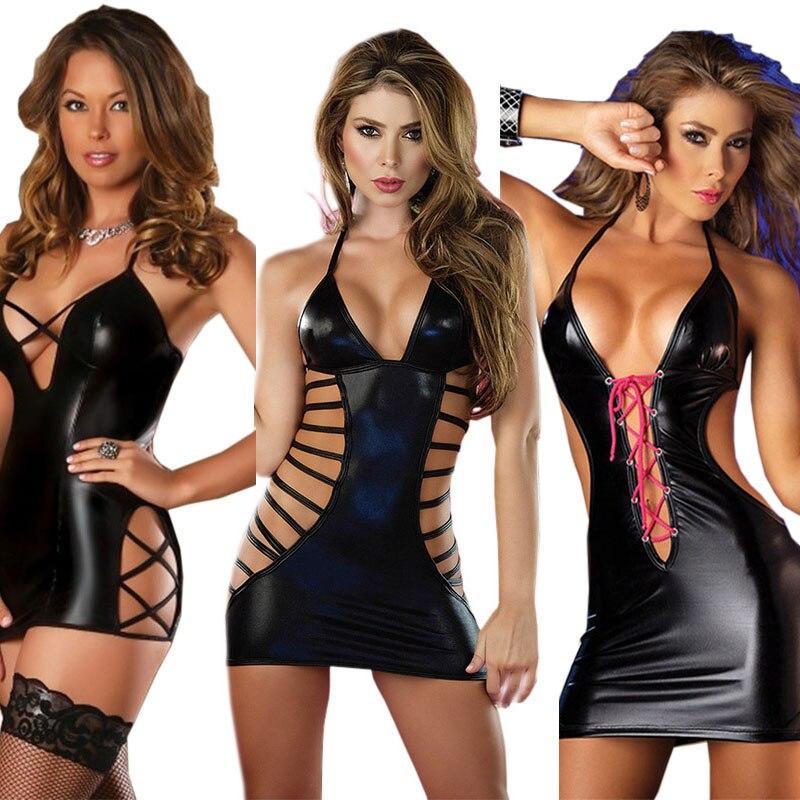 Lencería erótica Sexy para mujer ropa interior de Babydoll ropa interior de cuero para mujer ropa de noche