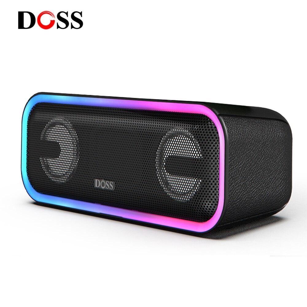 DOSS SoundBox Pro + Mini المحمولة TWS متحدث لاسلكي يعمل بالبلوتوث صندوق الصوت صحيح ستيريو عميق باس مضخم صوت صندوق تشغيل الموسيقى للكمبيوتر
