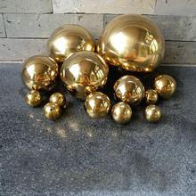 Boule creuse en titane ou or en acier inoxydable   Décoration sans couture pour maison et jardin, sphère avec miroir, ornements de jardin 25mm-480mm