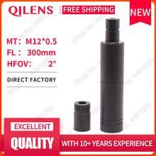 "QILENS 300mm CCTV camera lens 1/3"" Image Format Long Viewing Distance M12 Mount Horizontal View Angle 1.15D Manual Focus"