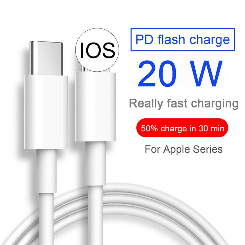 Cable de carga rápida para iPhone, Cable cargador tipo C de 20W,...