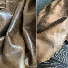 50x140 سنتيمتر خمر مركب الملابس والجلود النسيج الميت يترك الأصفر الأسود رصدت كرافت سترة DIY يد مصمم النسيج