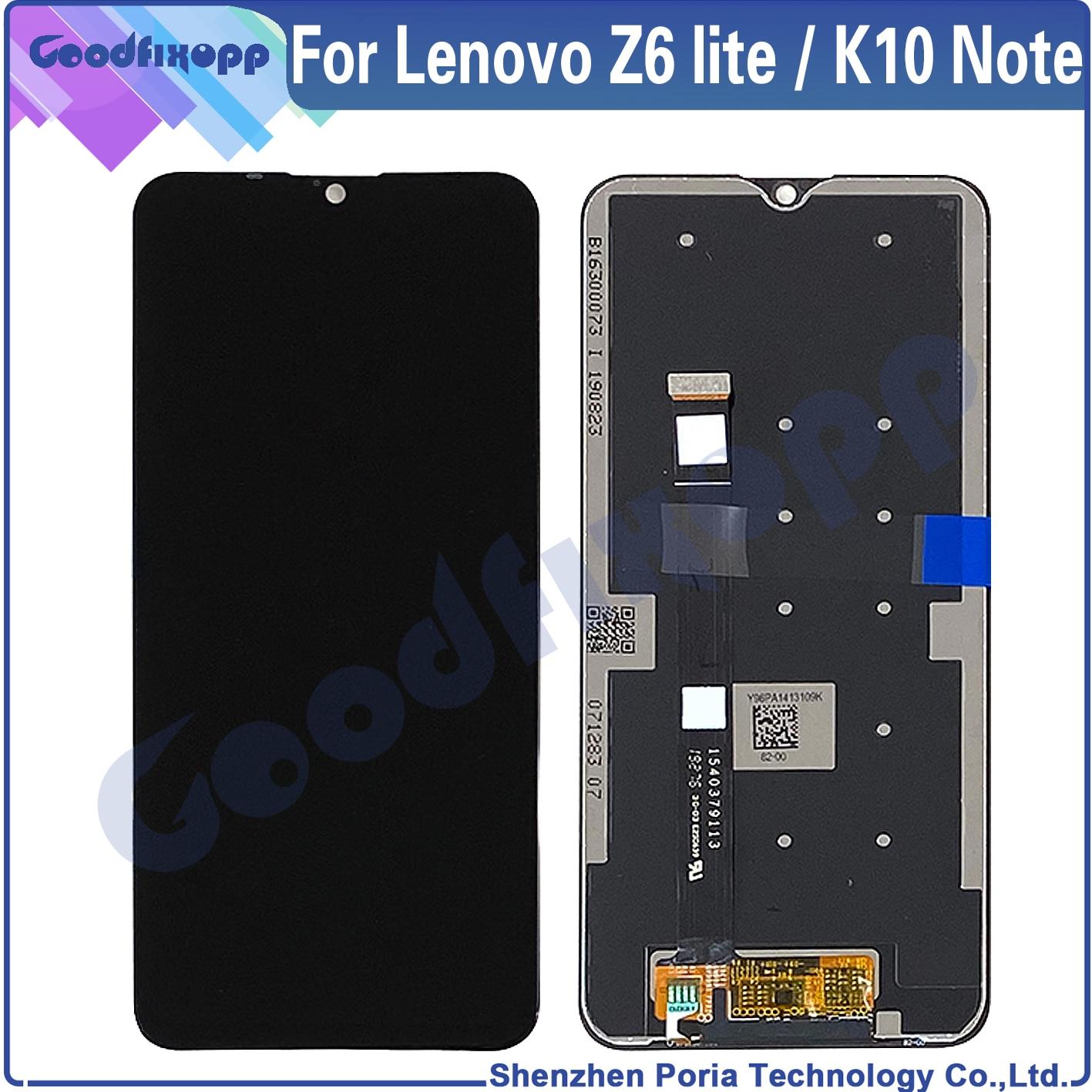 الأصلي 100% اختبار AAA لينوفو K10 ملاحظة Z6lite محول الأرقام الجمعية شاشة LCD لينوفو K10Note Z6 لايت L38111 Z6 الشباب