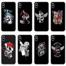 Spray paint skull face graffiti Soft Case For Xiaomi Mi 9 9T CC9 CC9E 8 SE Pro A2 Lite 6X 5 4 A3 A1 Max Mix 2 3 Pocophone F1