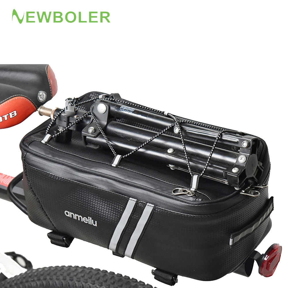Bike Waterproof Seat Pannier Pack Luggage Cycling Bag 8-25L Bicycle Pannier Bag Rear Rack Trunk Bag With Rain Cover