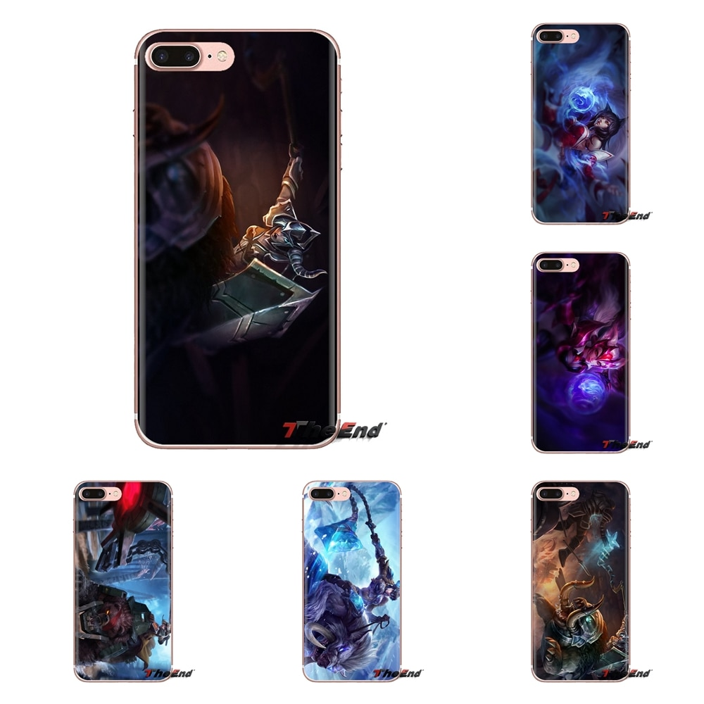 Transparent Soft Cases Covers For Samsung Galaxy A3 A5 A7 A9 A8 Star A6 Plus 2018 2015 2016 2017 League of Legends Ahri Sejuani
