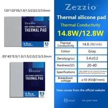 Zezzio Thermal Pad Soft Heat Dissipation Silicone Pad CPU/GPU Graphics Card Motherboard Silicone Gre