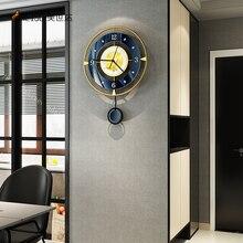 Nordic Glod Metal Watch Wall Clock Modern Design Home Living Room Decoration Large Vintage Clocks Te