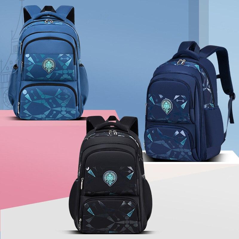 New Packback Primary School Student Backpacks Waterproof Children School Bags For Boys Kids Travel Backpack Orthopedic School B недорого