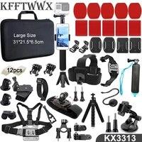 KFFTWWX Accessories Kit for Gopro Hero 9 Black 8 7 6 5 4 3 Tripod Mount for SJCAM SJ4000 Yi 4K DBPOWER AKASO EKEN H9 Osmo Action