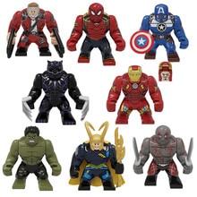 2020 Marvel Avengers Super Heroes Iron Man Captain America Building Blocks Bricks Toys Juguetes Xmas Gift