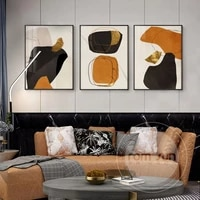 geometric abstract golden canvas print paintings gold foil poster wall art pictures on canvas living room office home decor