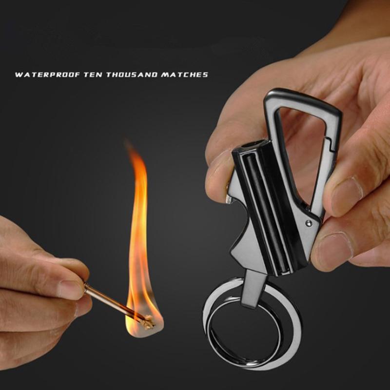 New Thousand Matches Waterproof Flint Free Fire Starter Kerosene Lighter Outdoor Survival Tool Keychain Portable Bottle Opener enlarge