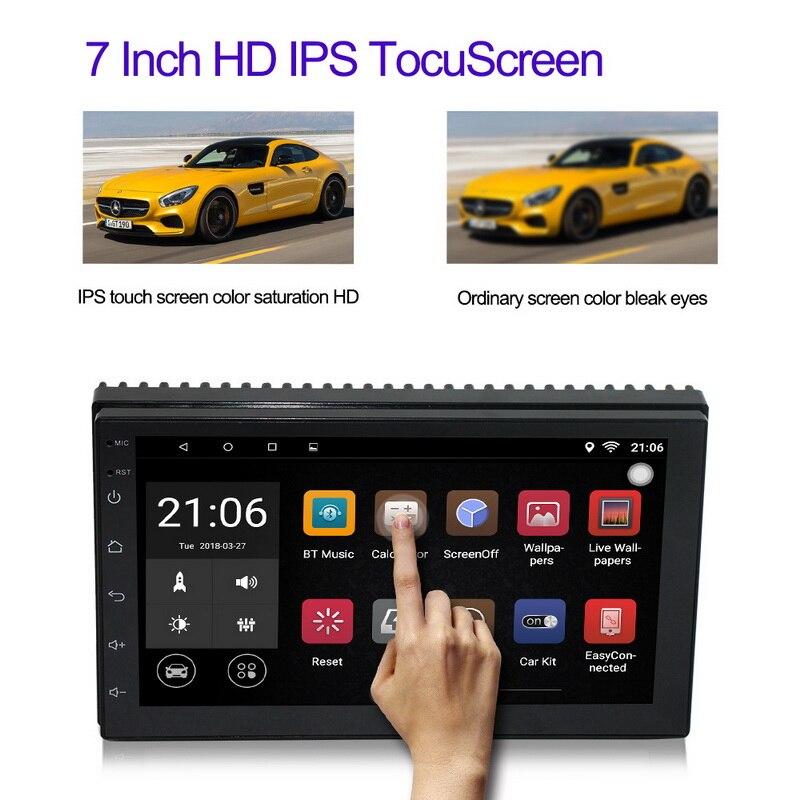 """Reproductor Multimedia para coche, reproductor Mp5 para coche, Android 8,1 2 Din 7 """", reproductor Mp3 Mp4 de Audio, Radio Estéreo, navegación GPS, autorradio HD, WiFi, USB, FM"""