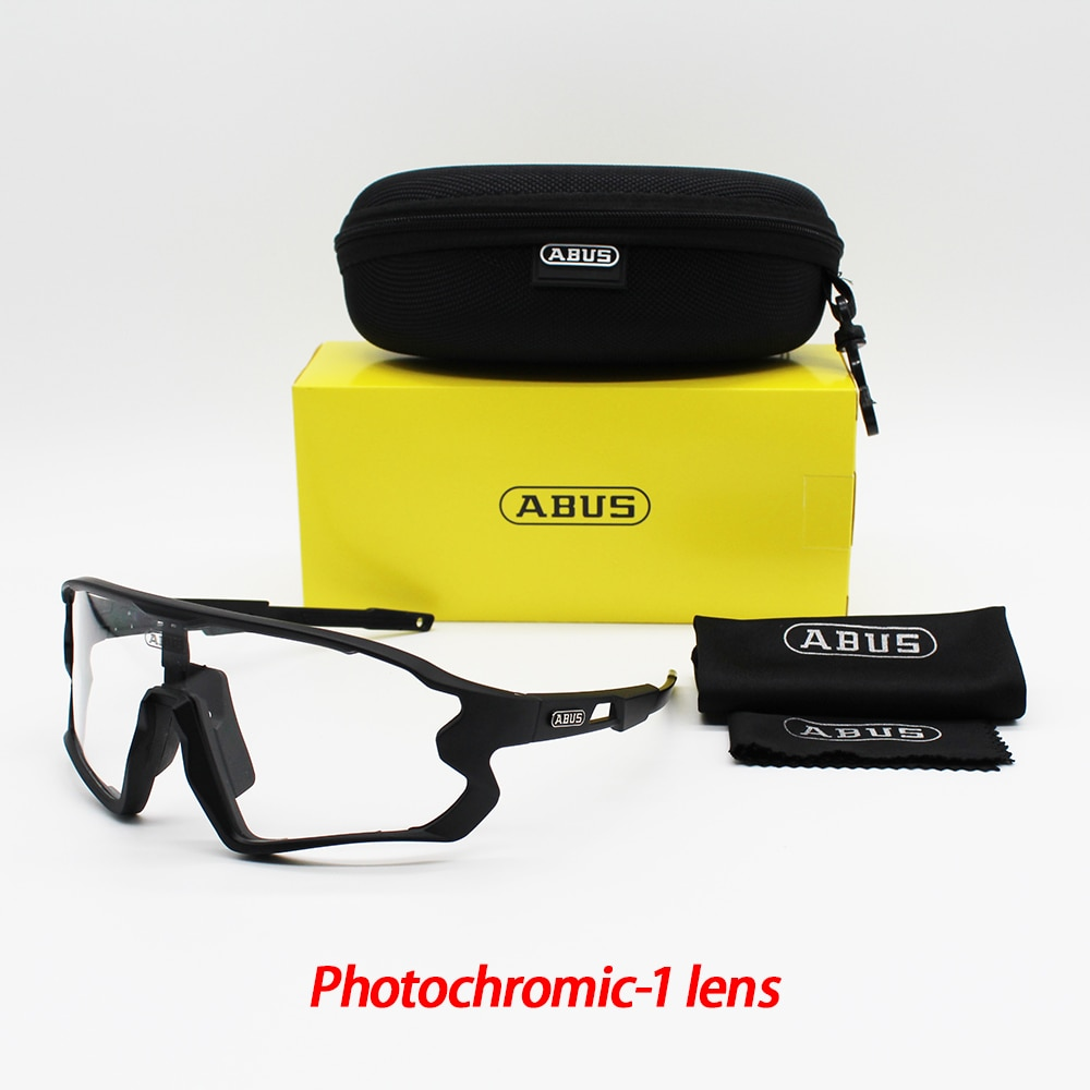 ABUS Cycling Polarised Glasses Bicycle Sunglasses MTB Sports Bike Photochromic lenses Eyewear For Ma