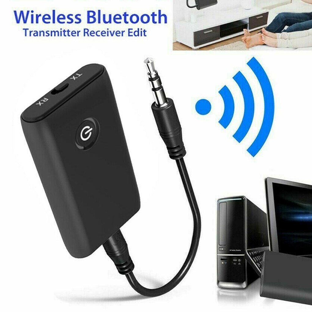 2 in 1 Bluetooth 5.0 Transmitter Receiver TV PC Car Speaker 3.5mm AUX Hifi Music Audio Adapter Headphones Car Speaker Device