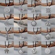QIAMNI Punk Norse Viking Pagan Axe Thor marteau amulette pendentif collier slave Vintage femmes cadeau hommes déclaration bijoux Talisman
