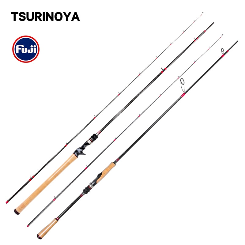 Tsurinoya vara de pesca ataque profundo X-CROSS cinto carbono alta qualidade bass rod 2.47m 2.28m ml potência baitcasting fiação isca haste