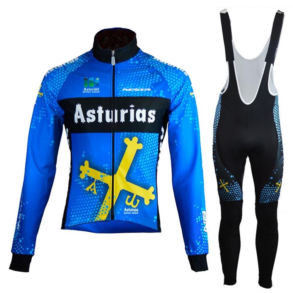 Traje de chaqueta de Ciclismo para hombre, Jersey de lana cálido, conjunto...