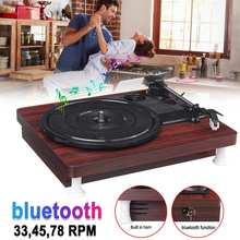 33, 45, 78 RPM LP Record Player bluetooth Built-in Speakers Antique Gramophone Turntable Disc Vinyl Audio RCA