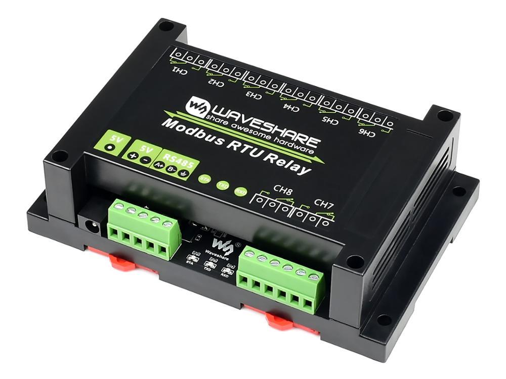 Waveshare 産業 Modbus RTU RS485 8-ch リレーモジュールインタフェース、マルチ絶縁保護回路