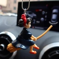 cute anime flying magical girl dolls decoration pendant car rearview mirror pendant home accessories toys interesting gift