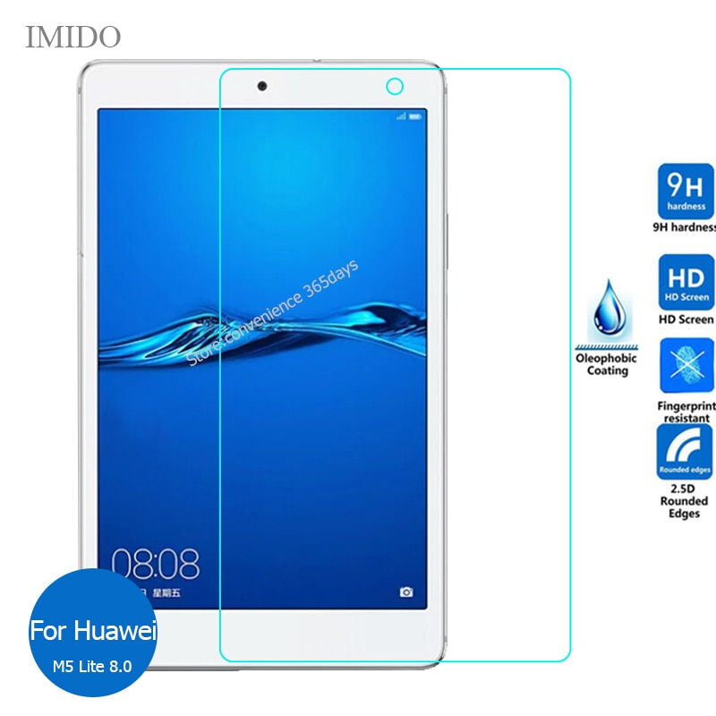 For Huawei Mediapad M5 Lite 8.0 Tempered Glass Screen Protector 9h Safety Protective Film on Media pad M 5 8 JDN2-W09 JDN2 W09