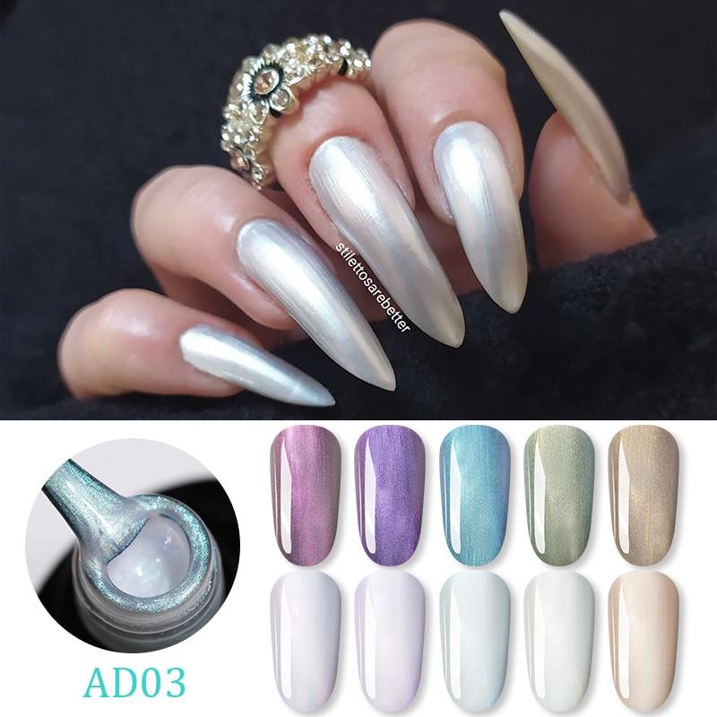 WHID CHICL Shell Pearly UV Gel Nail Polish Soak Off Long Lasting Nail Art Gel Polish Sparkly Shimmer UV Gel Varnish Decoration