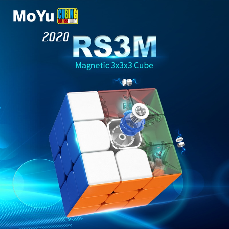 Moyu RS3M 2020 Magnetic 3x3x3 Magic Cube MF3RS3M cubing classroom RS3 M Magnets Puzzle Speed RS3M Cu