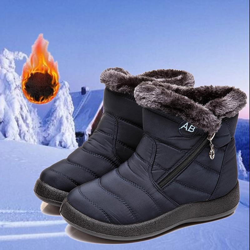 Botas de invierno para nieve, Botas de tela impermeables para Mujer, Botas de Invierno para Mujer, Botas de Invierno para Mujer, zapatos de felpa para Mujer, zapatos de invierno para Mujer