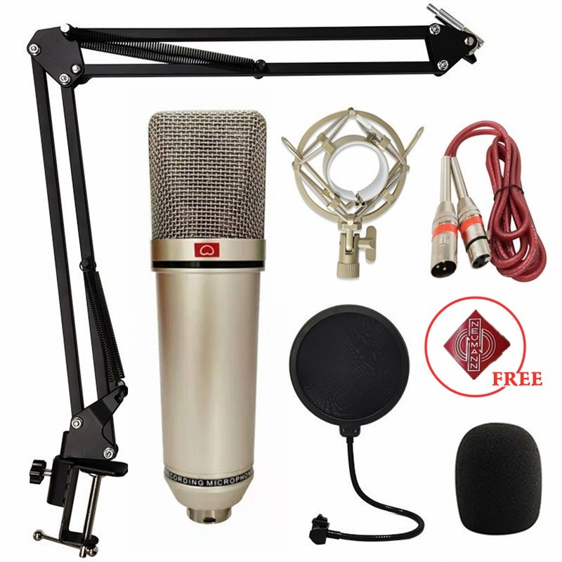 Recording Microphone U87 Microphone Condenser Professional Microphone For Computer Live Vocal Podcast Gaming Studio Singing
